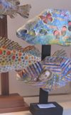 Bob Rhoades: Six Fish on Stands (detail)